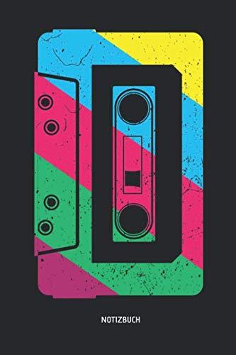 Notizbuch: Retro Neon Neunziger Kassette - Liniertes Kassetten Notizbuch. Tolle Geschenk Idee für Kassetten, Retro, Nostalgie, 80s und 90s Fans und alle die Musik lieben. (German Edition) (Liebe Brille)