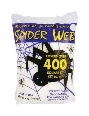 Fun World Super Stretch Spider Web For Indoor Outdoor Use  4 22 Oz