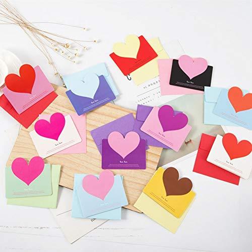 (Cards 3d - 24 Pcs Set Handmade Love Heart Post Card 3d Pop Up Greeting Color By Randomly - Up Pop Christmas)