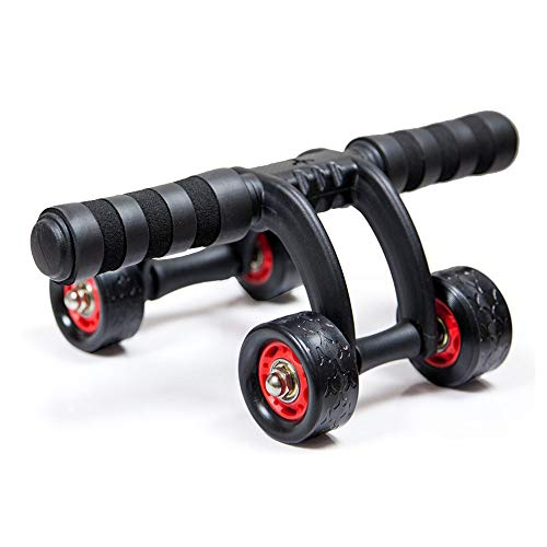 FLYMUG Portable Core Abdominal Wheels Roller Exerciser Push Up Stand Bar Abs Workout Fitness Exercise Equipment for Men and Women