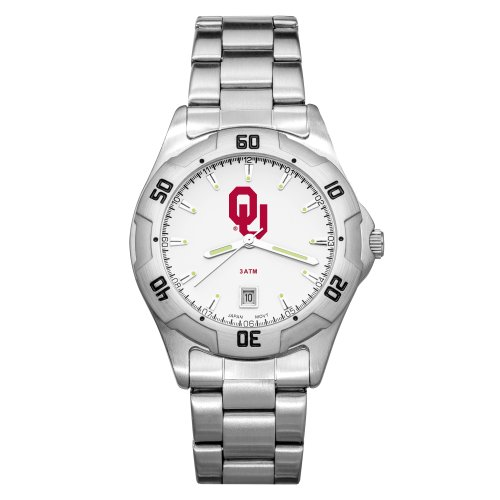 NCAA Oklahoma Sooners Men's All-Pro Chrome Watch by LogoArt