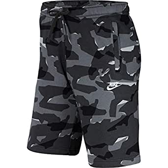 Nike Men's Sportswear Club Camo Short Bb Shorts, Grey , Small