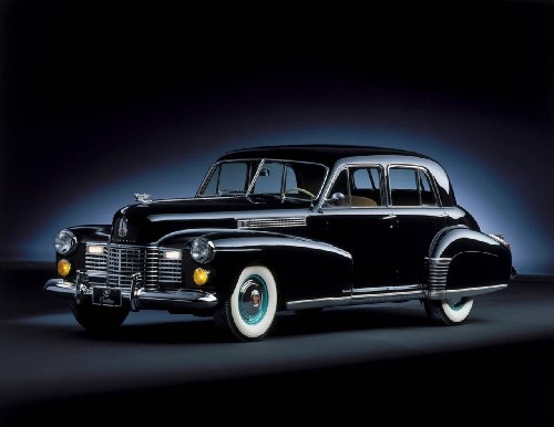 """Cadillac Sixty Special (1941) Car Poster Print on 10 mil Archival Satin Paper Black Front Side Studio View 24""""x18"""""""