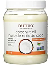 Nutiva Organic Steam-Refined Coconut Oil, 1.6 L | Organic, Non-GMO, Fair Trade | Vegan, Keto, Paleo | Neutral Flavor and Aroma for Cooking & Natural Moisturizer for Skin and Hair