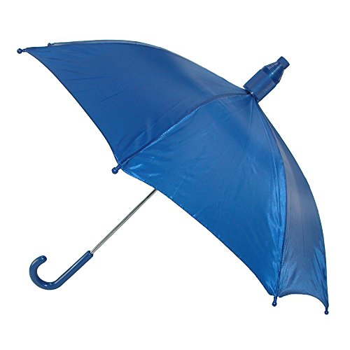 iRain Kids No Drip Hook Handle Stick Umbrella, Blue