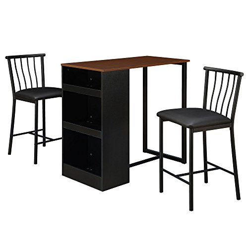 Dorel Living 3-Piece Counter Height Bar Set