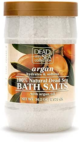 Dead Sea Collection Bath Salt with Argan Oil to Hydrate and Soften 34.2 oz
