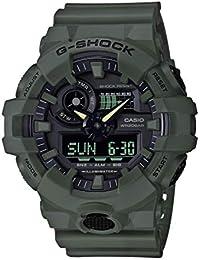 Men's XL Series G-Shock Quartz 200M WR Shock Resistant Resin Color: Matte Olive Green (Model GA-700UC-3ACR)