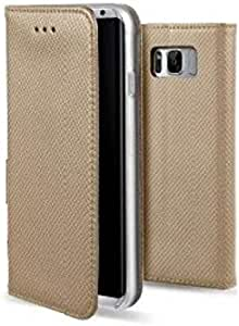 Generic Flip Cover For Samsung S8 - Gold