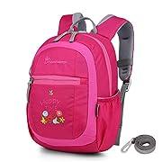 MOUNTAINTOP Mini Backpack Kinder Kleinkind Rucksack mit Anti-verlorene Bügel,Brustgurt,Namensschild für Baby Kleinkinder…