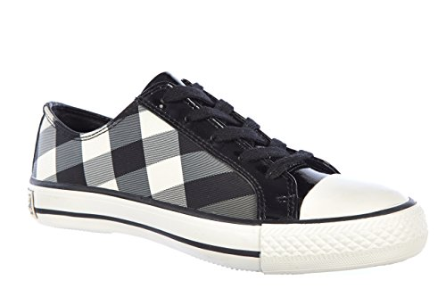 Burberry women's shoes trainers sneakers beat vintage black US size 6 3492662