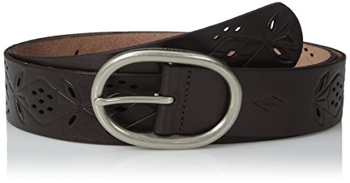 Perforated Floral Belt (Fossil Women's Floral Perforated Belt, Cordovan,)