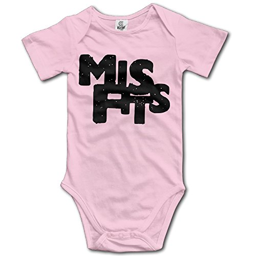 OKBEN Misfits Logo Short Sleeve Baby Bodysuit Onesie For Baby-Boys/Baby Girls]()