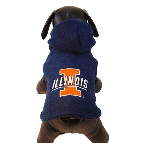 NCAA Illinois Illini Polar Fleece Hooded Dog Jacket, X-Large Collegiate Polar Fleece