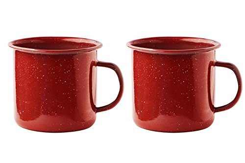 Asobu Happy Trails Classic Country Camper Coffee and Tea Mug (Red 2 Pack) (Classic Coffee Mug)