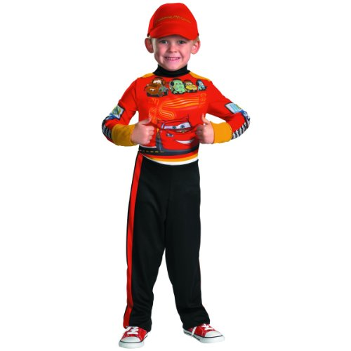 Cars Halloween Costume (Childs Cars Lightning McQueen Pit Crew Costume Medium)
