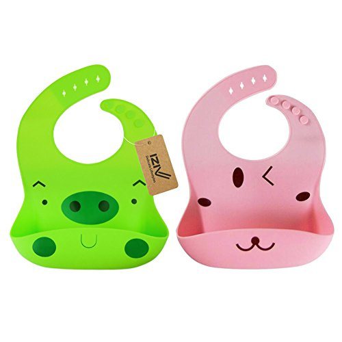 Para 1 0 2 Color Silicona Pañuelo Paquete De Iziv Snaps Diseños Con Impermeable 3 Años color Bebé Del 2 Ajustables Baberos w6qpxcHRfP