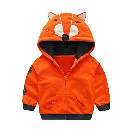Lisin Baby Boy Girl Coat Cartoon Animal Hooded Zipper Tops Clothes Infant Toddler Kids Coat