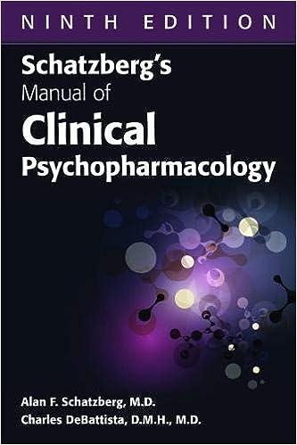 Libro Epub Gratis Schatzberg's Manual Of Clinical Psychopharmacology