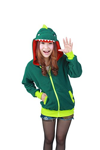 SZTARA con dinosauro cappuccio Felpa Donna Verde rcUrqwz8xS