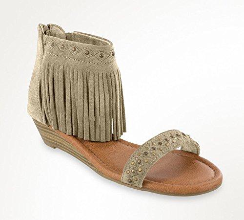 Minnetonka Womens Savona Taupe Sandal - 8