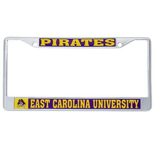 Desert Cactus East Carolina University Pirates Metal License Plate Frame for Front Back of Car Officially Licensed (Mascot)