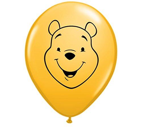 Qualatex 62810 Pooh Face - Goldenrod Latex Balloons, 5