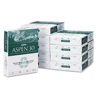 BOISE ASPEN 30% Recycled Multi-Use Copy Paper, 8.5'' x 11'' Letter, 92 Bright, 20 lb, 10 Ream Carton, 5,000 Sheets (054901)