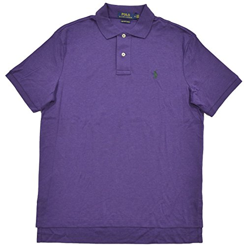 Polo Ralph Lauren Mens Pima Cotton Interlock Polo (L, Purple - Green - Ralph Outlet