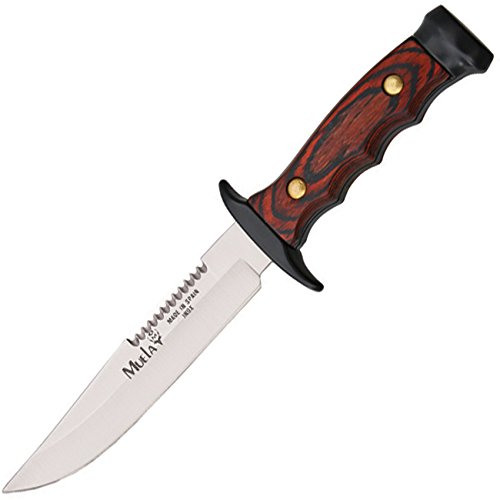 "MUELA 7121M 4-3/4"" Fixed Blade Hunting Knife with Leather Sheath"