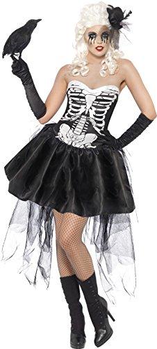 Smiffy's Skelly Von Trap Costume, Black/White, Small