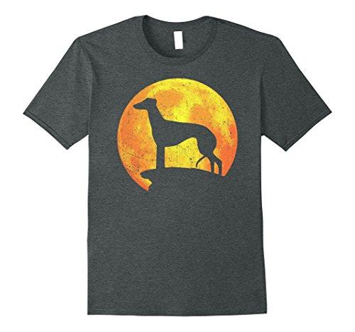 Mens GREYHOUND Dog Orange Halloween Costume Vintage T-shirt XL Dark Heather