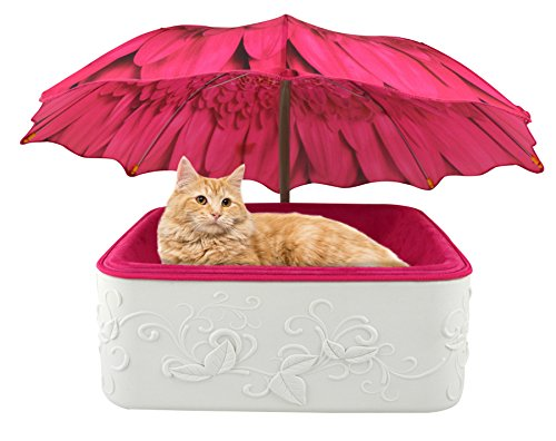 Parasol Pets  Garden Themed Design for Indoor Cats and Small Dogs, Furniture Quality Base, Suede Cloth/Foam Cushion-Custom Umbrella