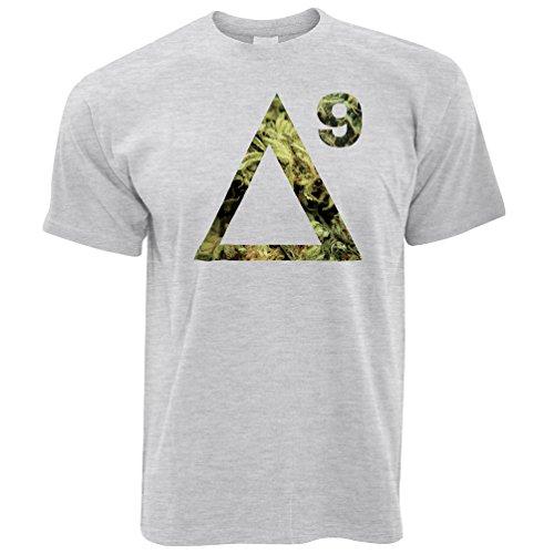 Delta 9 THC T Shirt Cannabis Molecule Grey M