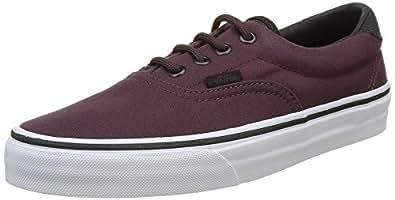 Vans Era 59 Canvas Military Fashion Sneakers, Iron Brown/White, 3.5 Men/5 Women