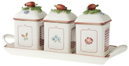 Villeroy & Boch 14-5473-8355 Petite Fleur Charm Marmeladendosen-Set 3tlg.