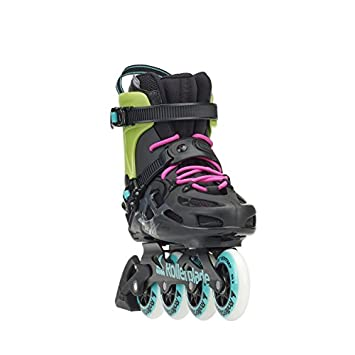 Rollerblade Maxxum Classic Unisex Adult Fitness Inline Skate, Black and Acid Green, High Performance Inline Skates