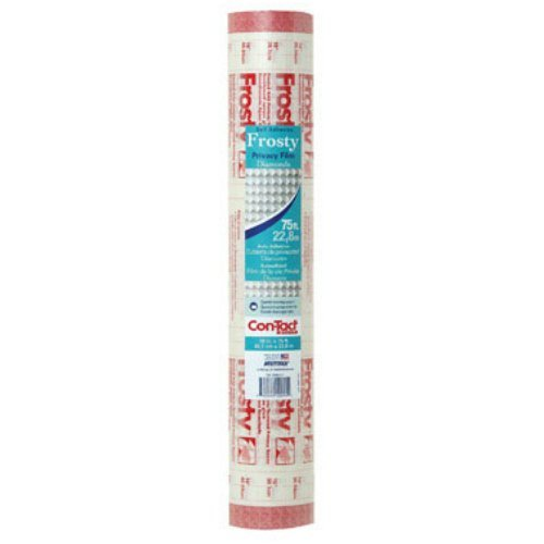 Con-Tact Brand Clear Covering Self Adhesive Privacy Film and Liner, 18-Inches by 75-Feet, Frosty Diamond