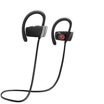LONGTENG Auriculares inalámbricos estéreo IPX4 a prueba de sudor deportes coche Bluetooth auriculares para iPhone Samsung iPad y Android teléfono mujeres ...