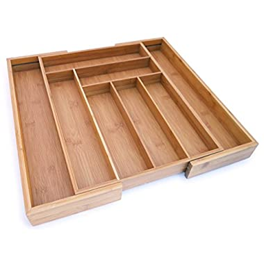 Culina Bamboo Utensils Drawer. Expandable, 18  x 12.75  X 2