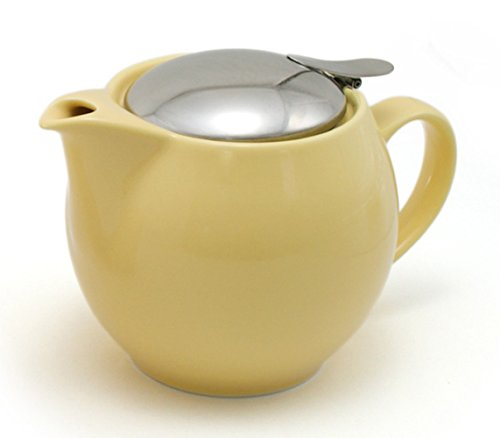 ZEROJAPAN 15oz Round Teapot with SLS Lid and Infuser (Banana)