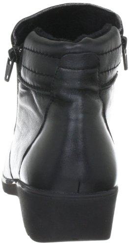Comfortabel Mujeres Comfortbel Low Leder Botas De Nieve Negras