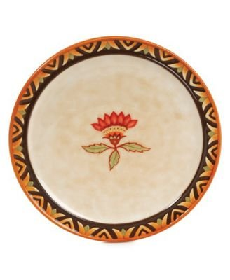 Fitz and Floyd Global Market Party Plate, Red Flower