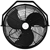 Misting Fan - Patio Mist Fan - Outdoor Mist Fan - For Residential, Commercial, Restaurant and Industrial Misting Application (18 Inch Black Fan)
