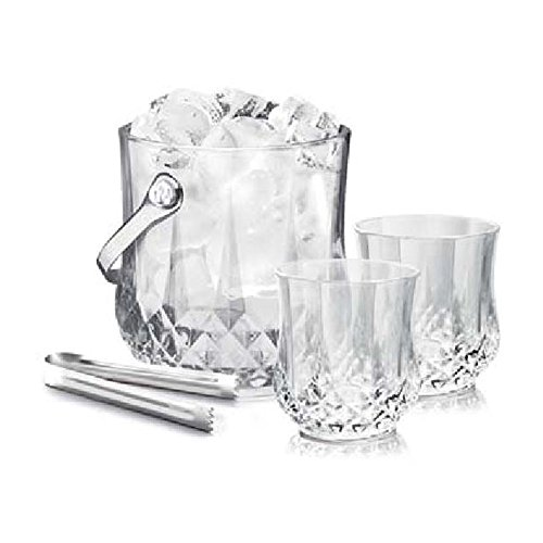 One Ice Bicket With Tong + 6 Pcs Tumbler