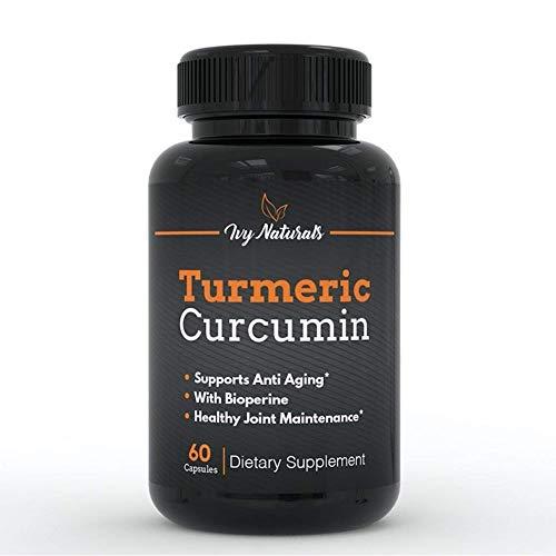 Turmeric Curcumin by Ivy Naturals || Effective Turmeric Curcumin 60 Ct || 95% Curcuminoids Enhanced with BioPerine || Boost Antioxidants || Anti-Inflammatory || SATISFACTION GUARANTEED For Sale