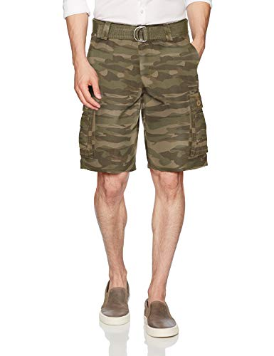 - LEE Men's Dungarees New Belted Wyoming Cargo Short, Fatigue camo, 38