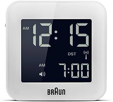 Braun - Reloj despertador digital de viaje, color blanco: Amazon.es: Relojes