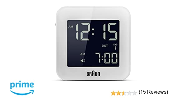 Braun - Reloj despertador digital de viaje, color blanco: Amazon.es: Relojes