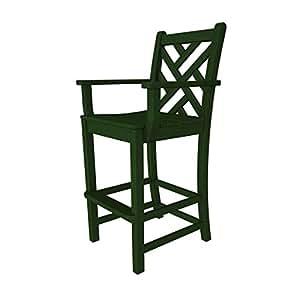 Chippendale plástico reciclado madera Bar brazo silla